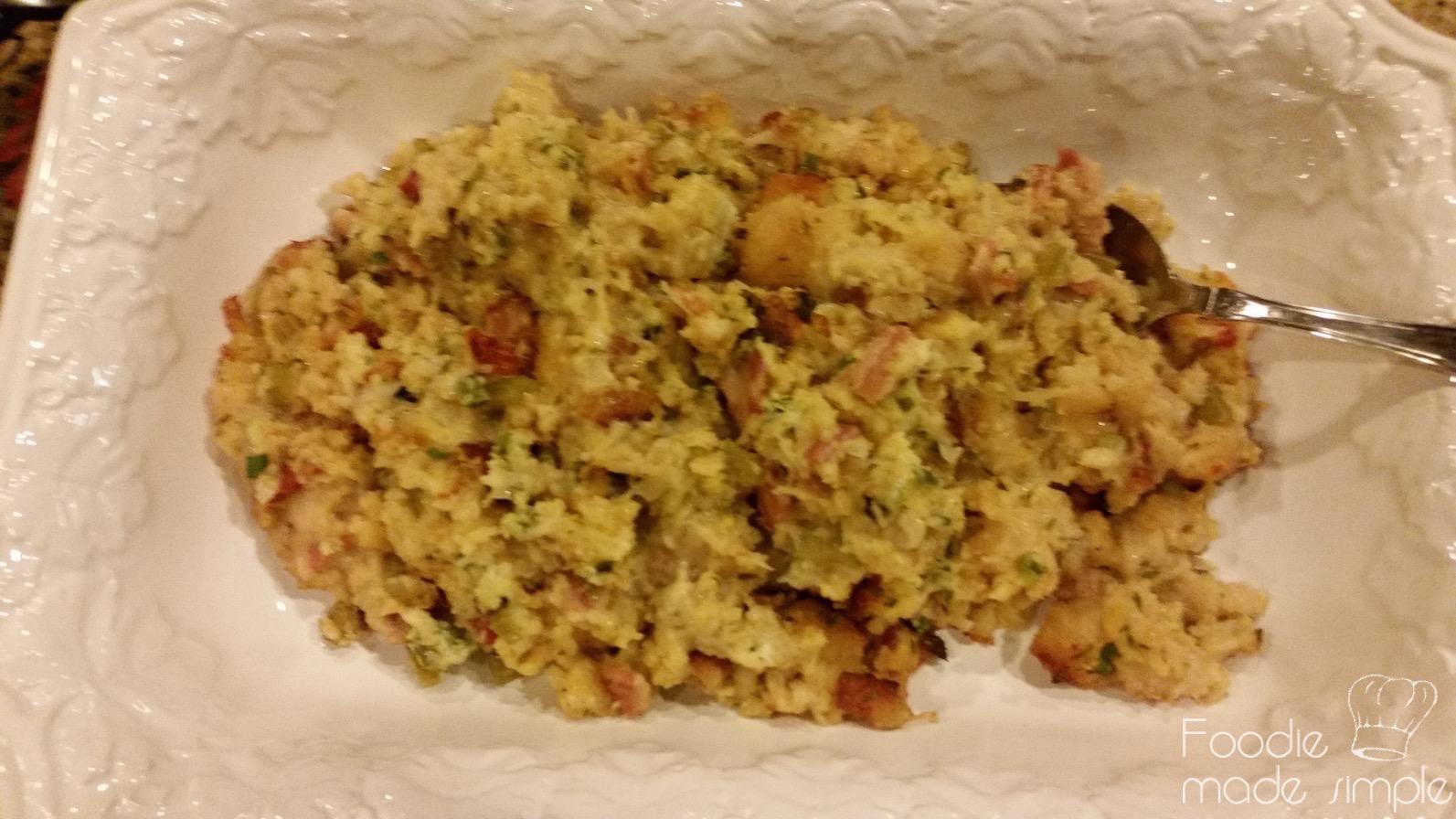 Bacon-Cornbread Stuffing Recipe — Dishmaps