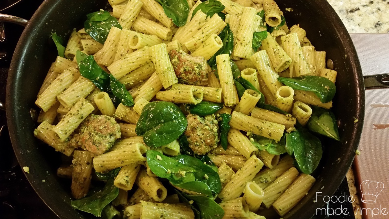 plate the pasta mixture and top with parmesan almonds and drizzle with ...