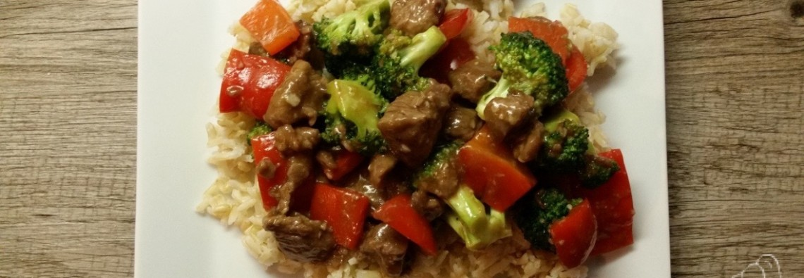 Beef and Broccoli with Red Peppers