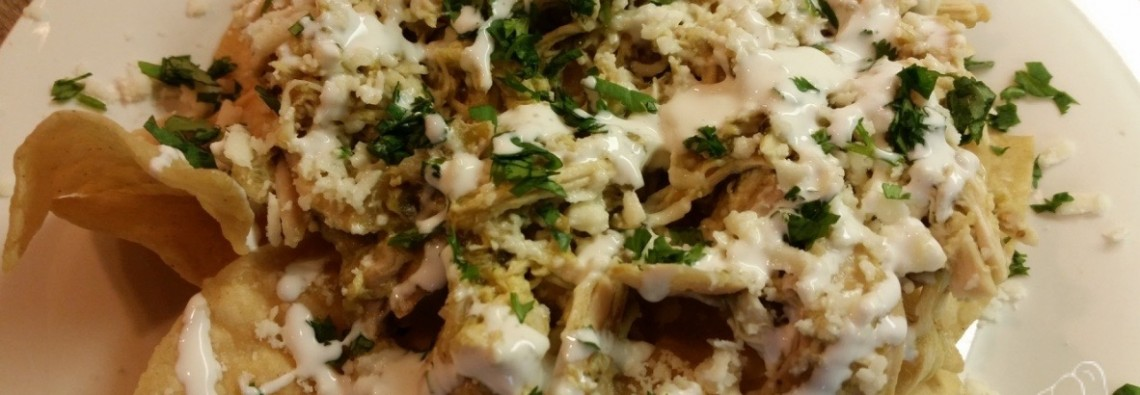 Easy Chicken Chilaquiles with Tomatillo Salsa