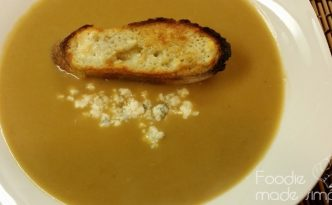 Creamy Gorgonzola Soup and Gorgonzola Crouton