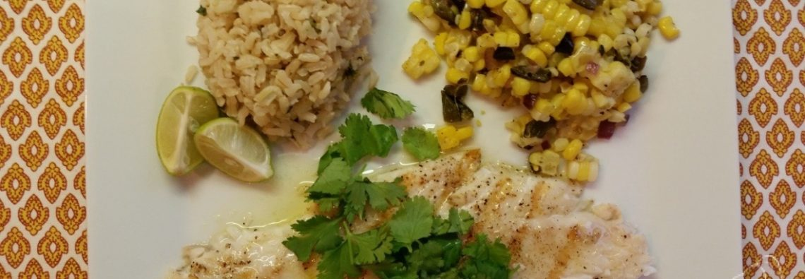 Grilled Cilantro Halibut with Jalapeno Butter