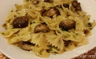 Mushroom and Garlic Pasta