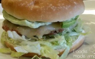 Tex-Mex Turkey Burger with Avocado Mayonnaise