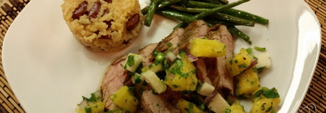 Jamaican-Style Jerk Pork Tenderloin with Pineapple Salsa