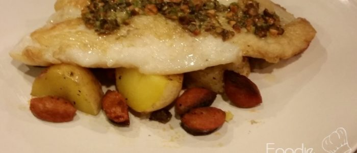 Seared Cod with Potato and Lingucia Foil Packs