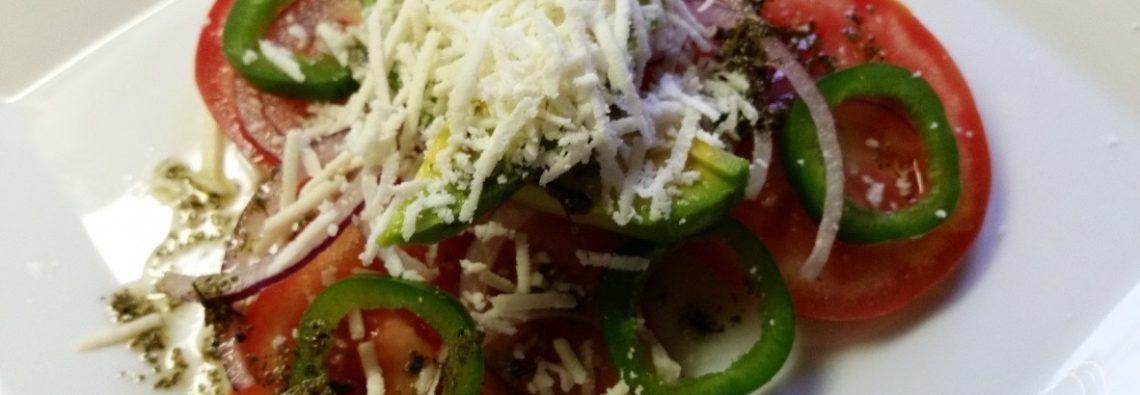 Vine-ripe Tomato Salad with Cotija Cheese, Avocado and Jalapeño