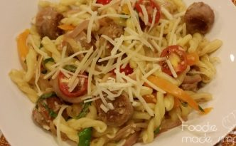 Spicy Turkey Sausage and Pepper Pasta