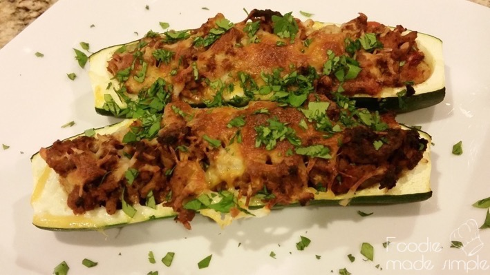 21 Day Fix Turkey Taco Zucchini Boats