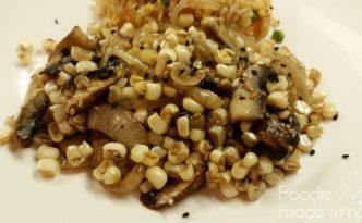 Sweet Corn and Mushroom Stir-Fry
