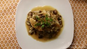 Pan-Seared Chicken with Olive Tapenade and Mushroom Sauce