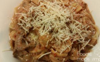 Orechiette alla Filetto in Red Wine-Tomato Cream Sauce