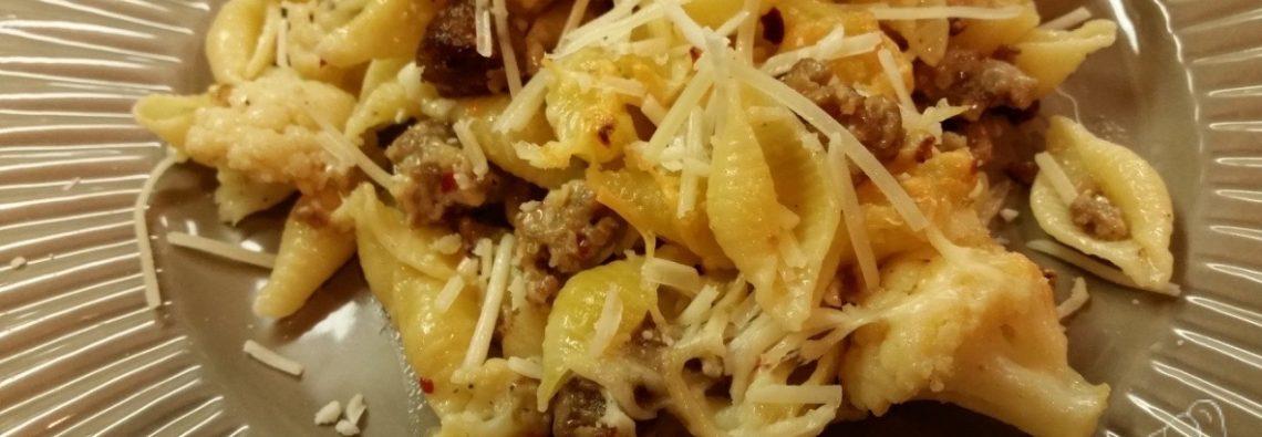 Cauliflower Spicy Sausage and Pasta