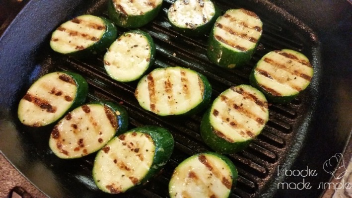 Arrange the zucchini slices on a plate or platter' add tomatoes and ...