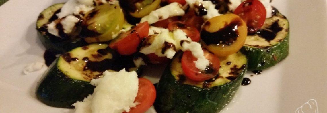 Grilled Zucchini, Tomato and Mozzarella Salad