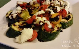 Grilled Zucchini, Tomato and Mozzarella Salad