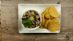 Tuna Ceviche with Avocado and Cilantro