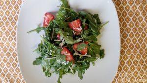 Strawberry Arugula Salad with Lime Vinaigrette