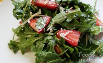 Strawberry Arugula Salad with Lime Vinaigrette