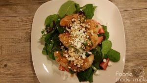trawberry Spinach Salad with Strawberry Basil Chicken