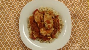 Tomatoes and Garlic Chicken Thighs